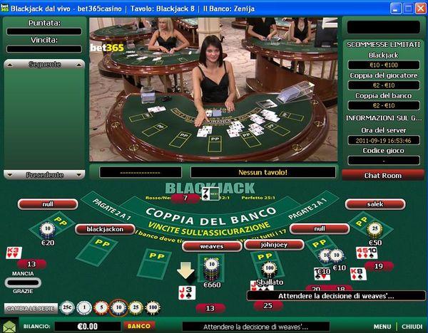 Rules of live dealer blackjack
